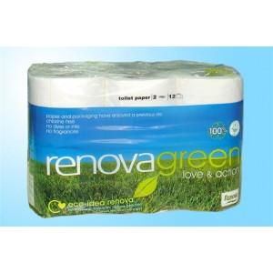 Conj 12 rolos higienico Renovagreen
