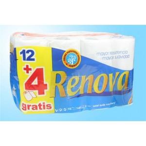 Conj 12+4 rolos higienico Renova