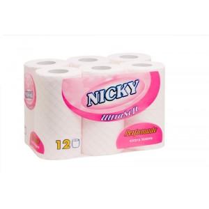 Papel higienico Nicky 12 rolos ultrasoft