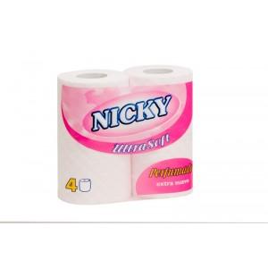 Papel higienico Nicky 4 rolos ultrasoft