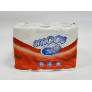 conj 12 rolos higienico Amoos