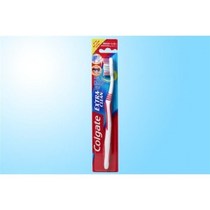 Conj 12 escovas de dentes extra clean colgate